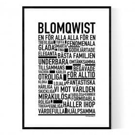 Blomqwist Poster