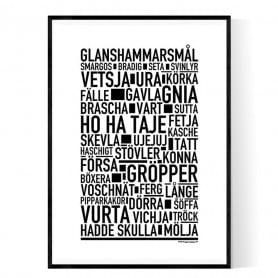 Glanshammarsmål Poster