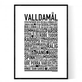 Valldamål Poster