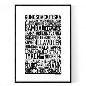 Kungsbackitiska Poster
