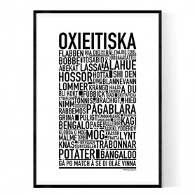 Oxieitiska Poster
