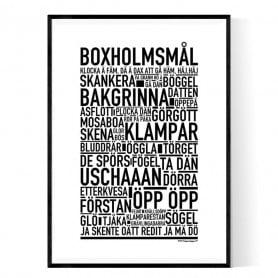 Boxholmsmål Poster