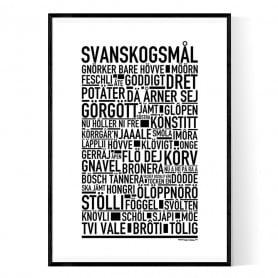 Svanskogsmål Poster
