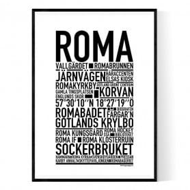 Roma Gotland Poster