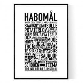 Habomål Poster