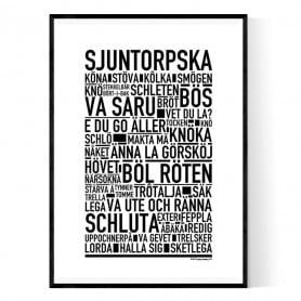 Sjuntorpska Poster