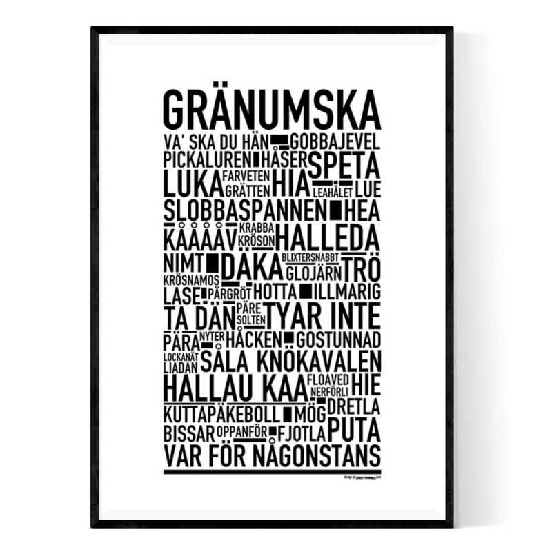 Gränumska Poster