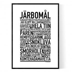 Järbomål Poster