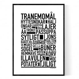 Tranemomål Poster