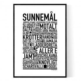 Sunnemål Poster