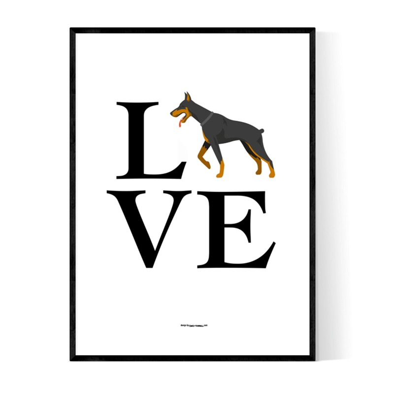 Love Dobermann Poster