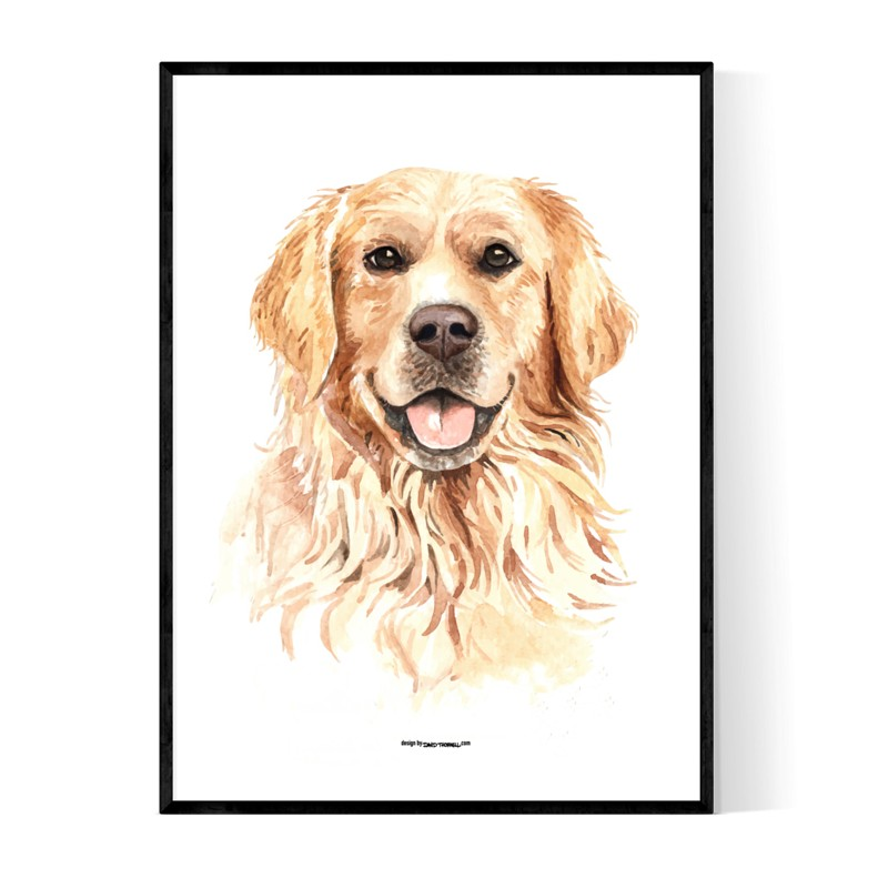 Golden Portrait Poster
