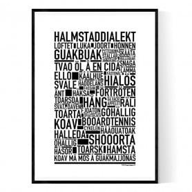 Halmstaddialekt Poster