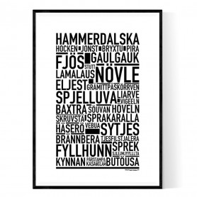 Hammerdalska Poster
