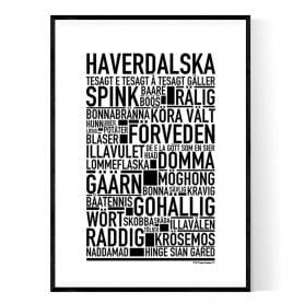 Haverdalska Poster