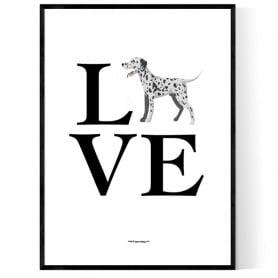 Love Dalmatiner Poster