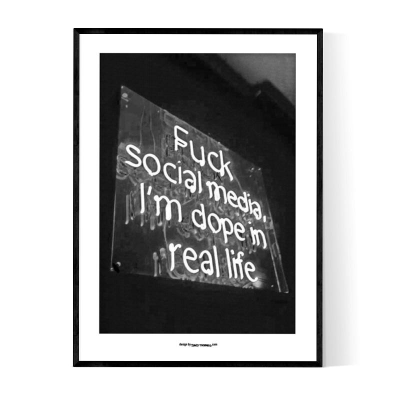Fuck Social Media Poster