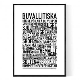 Buvallitiska Poster