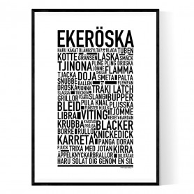 Ekeröska Poster