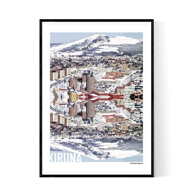 Kiruna Cutout Poster