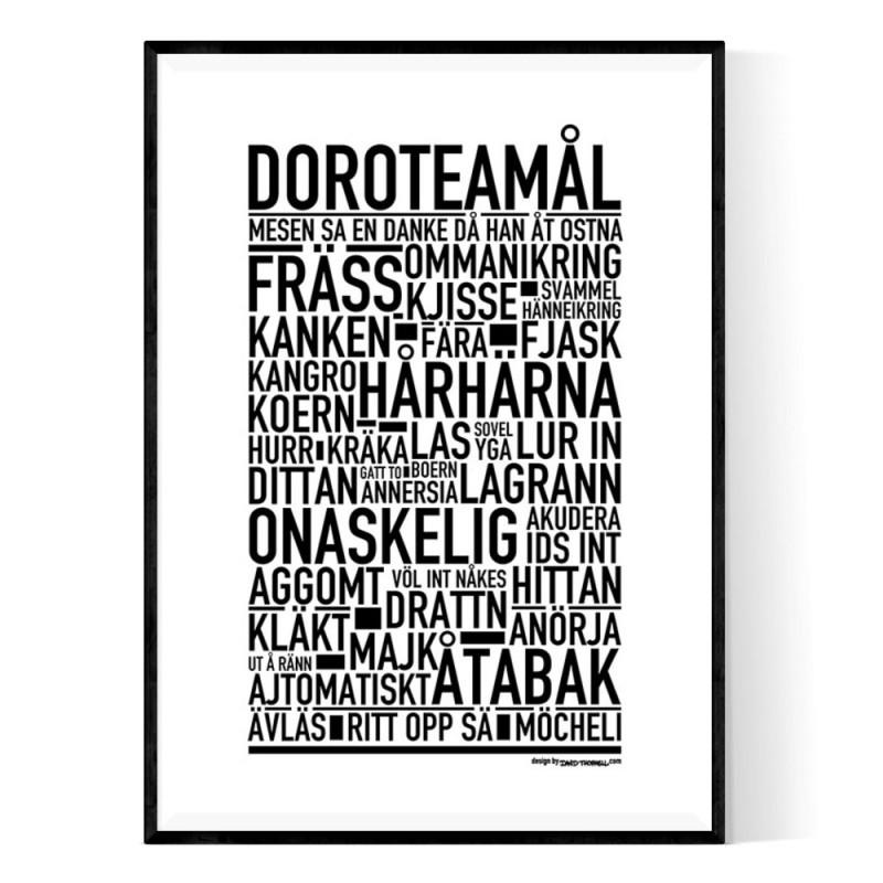 Doroteamål Poster