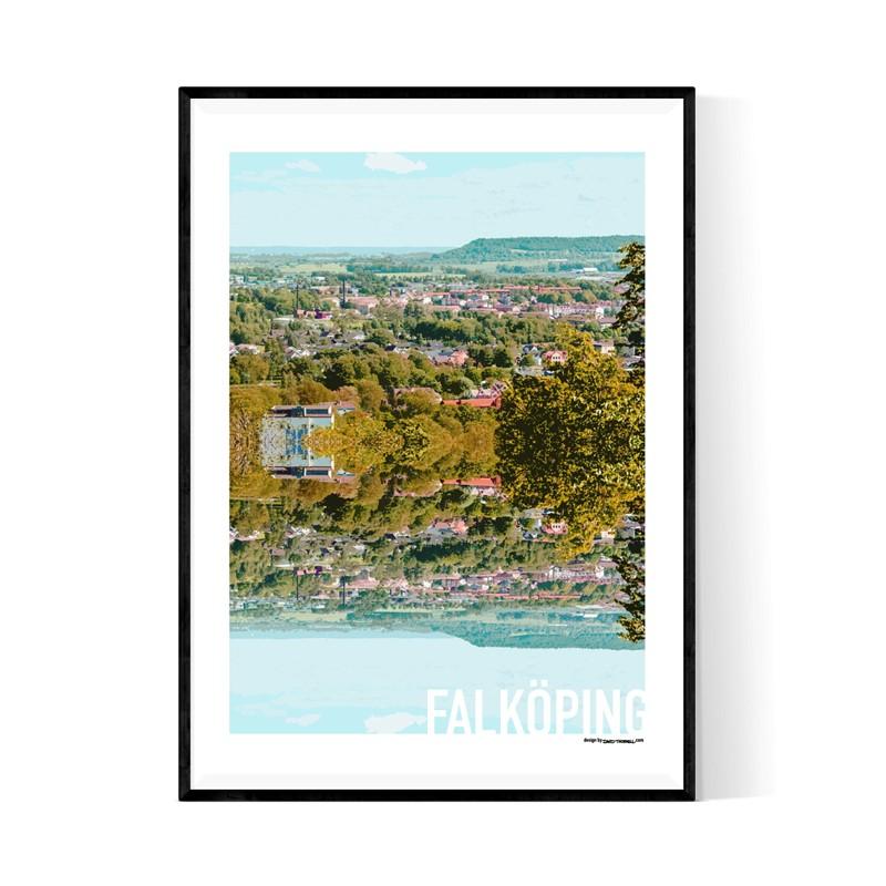 Falköping Cutout Poster