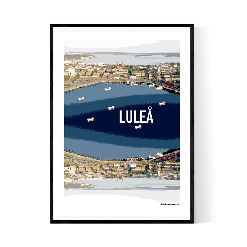 Luleå Cutout Poster