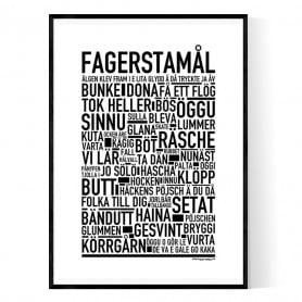 Fagerstamål Poster