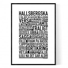 Hallsbergska Poster