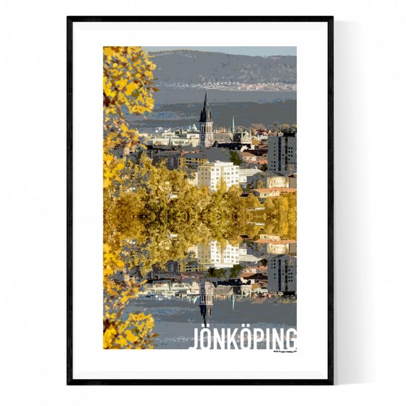 Jönköping Cutout Poster