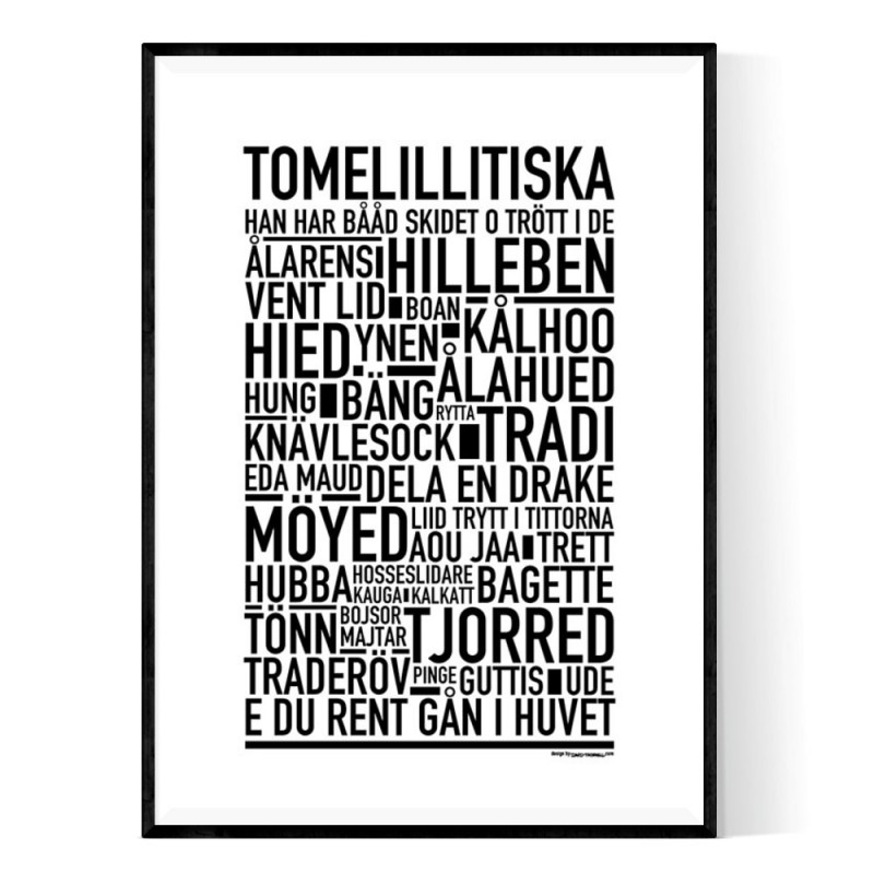 Tomelillitiska Poster