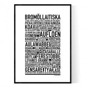 Bromöllaitiska Poster