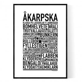 Åkarpska Poster