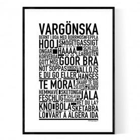 Vargönska Poster