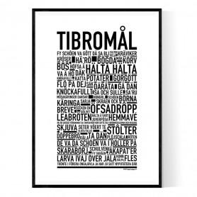 Tibromål Poster