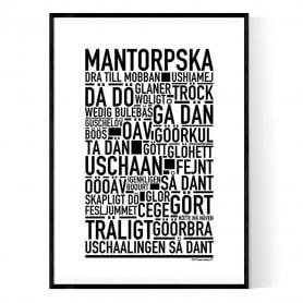 Mantorpska Poster