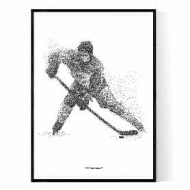 Ishockeyspelare Poster