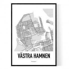 Västra Hamnen Karta Poster
