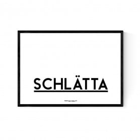 Schlätta Logo Poster