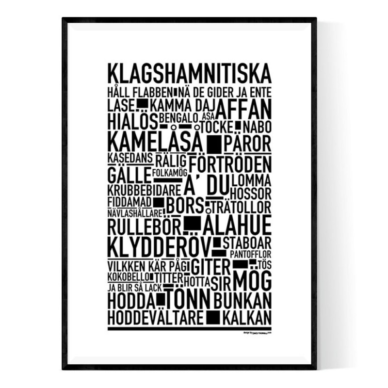 Klagshamnitiska Poster
