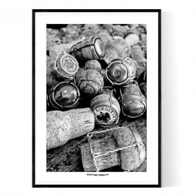 Champagne Corks Poster