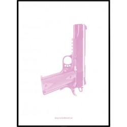 Pink Gun Poster