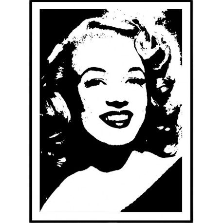 marilyn monroe poster tavla marilyn monroe tecknad konst online. Black Bedroom Furniture Sets. Home Design Ideas