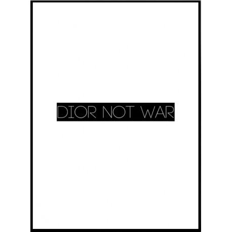 Dior Not War Poster