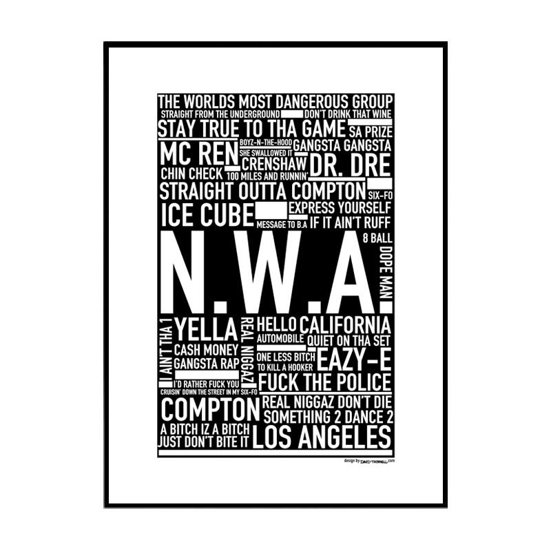 N.W.A Poster. Hitta Dina Posters Online Hos Wallstars