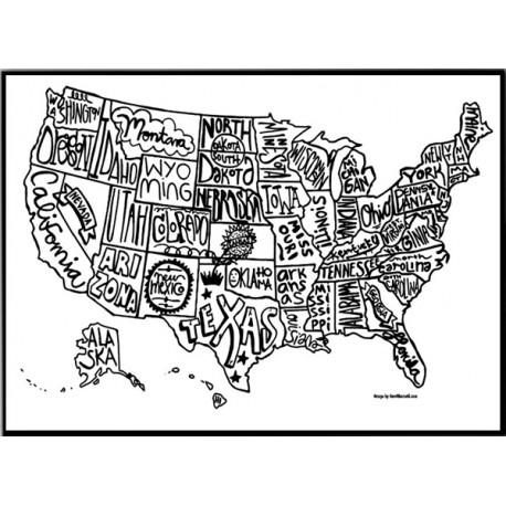 USA Karta