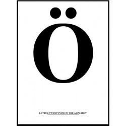 Alfabet Ö Poster