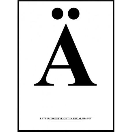 Alfabet Ä Poster
