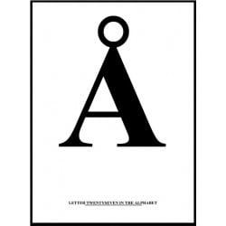 Alfabet Å Poster