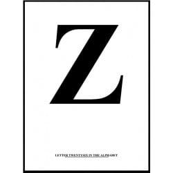 Alfabet Z Poster
